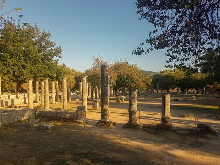 Peloponnese, Greece 23 August 2017. Archaeological site of Olympia in western Peloponnese.