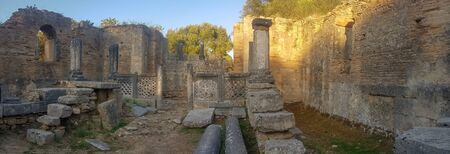 Peloponnese, Greece 23 August 2017. Famous touristic destination of Olympia in Greece.