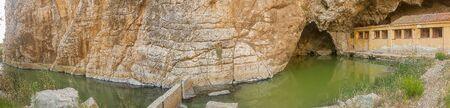 Kaiafa lake in Greece. Famous touristic destination.