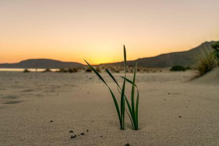 Sunset in Elafonisos at Simos beach.