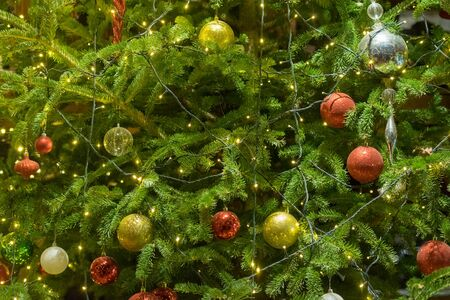 Close up of a Christmas tree. 스톡 콘텐츠