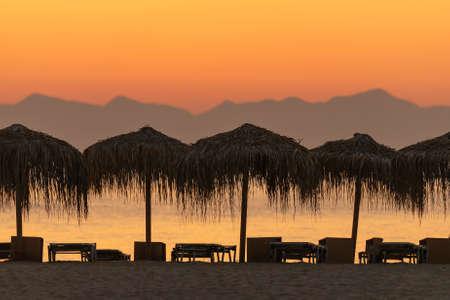 Simos beach at Elafonisos dusing sunset.