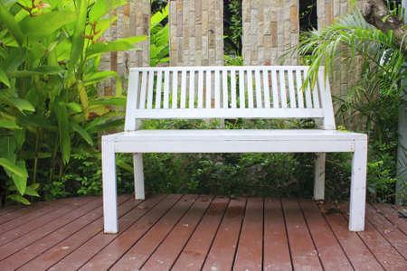 singular: Bench Stock Photo