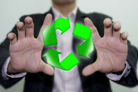 environmentalist tag: recycling. Stock Photo
