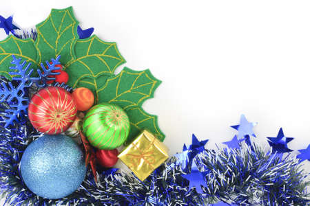 The background color of the Christmas ball, not green. Stock Photo - 11555106