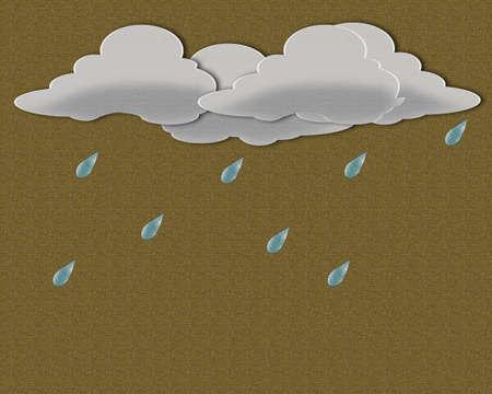 De papel, las nubes de lluvia. Foto de archivo - 11771038