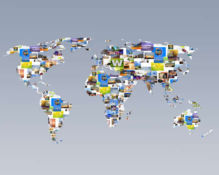 group link: Image as a world. Stock Photo