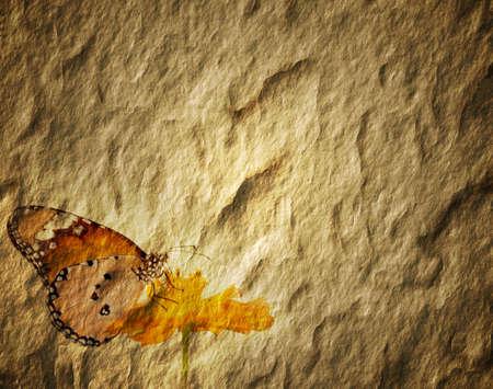 fabrick: Old paper butterflies.