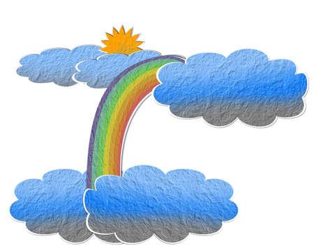 latitude: Paper latitude clouds.
