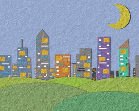 papel reciclado: Textura de papel viejo, la gran ciudad. Foto de archivo