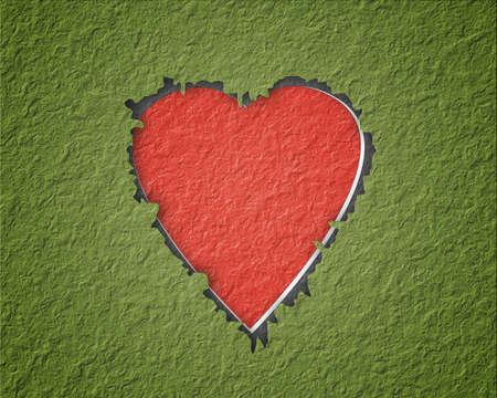 Hang a paper heart Stock Photo - 11891840