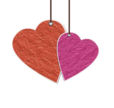 Hang a paper heart Stock Photo - 11891833
