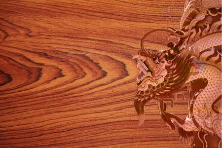 Wood like a dragon. photo