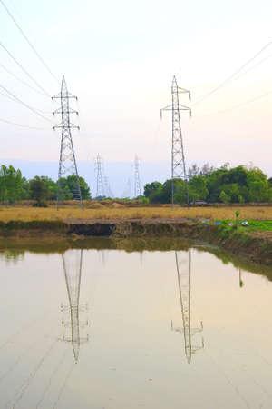 High voltage power pole. photo