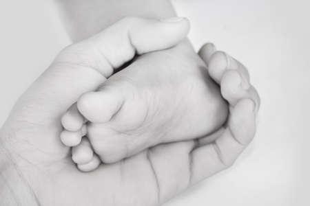 feet soles: Foot, hand, adult children.