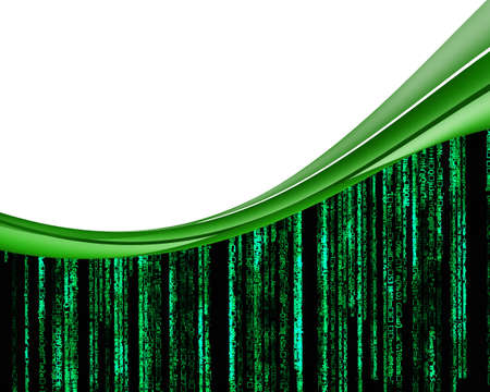 cryptography: Background green lettering.
