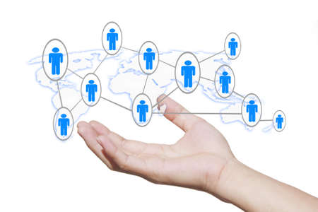 social network structure Stock Photo - 11937250