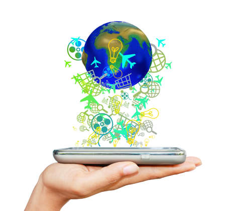 Touch screen mobile phone Stock Photo - 11937305