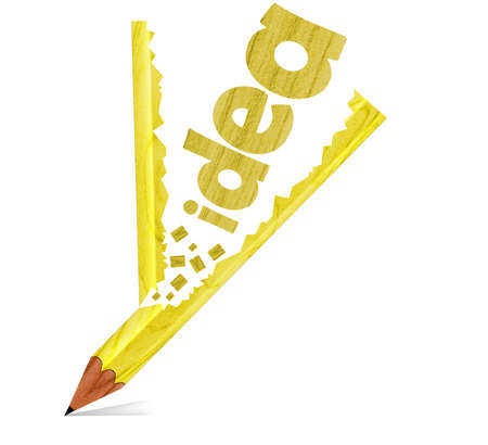 red pencil and doodle of brain idea as concept Stock Photo - 11994549