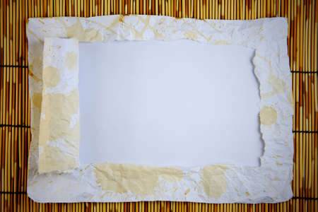 vertical dividers: vertical ripped paper  Stock Photo