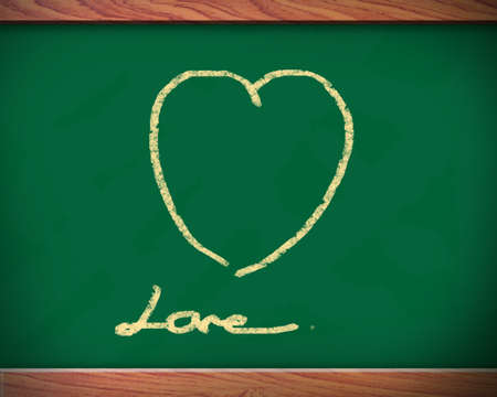 Blackboard to draw a heart shape may be used as the background. photo