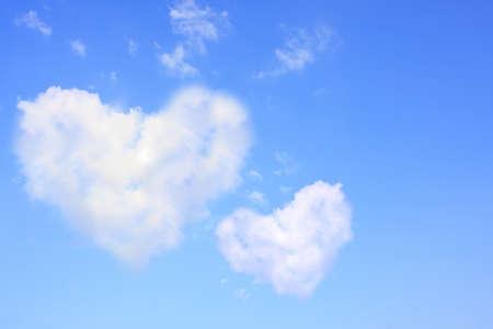 two hearts: Heart-shaped canopy. Stock Photo