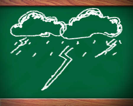 Blackboard that the image of rain. Stock Photo - 12072961