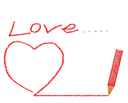 Pencil drawing heart. See my portfolio for more pencils.  photo