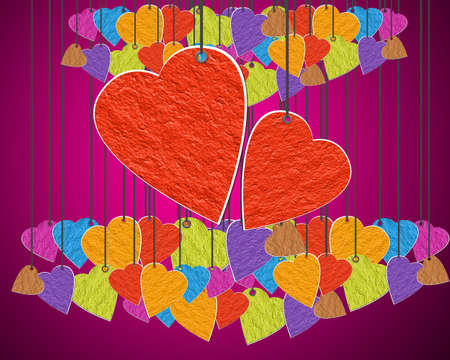 Heart day of love. Paper Hanger. Stock Photo - 12251663