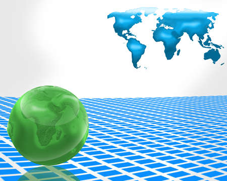 Globe business abstract background. photo