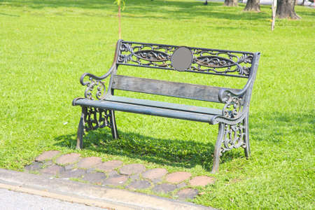 Wet bench in the park  photo