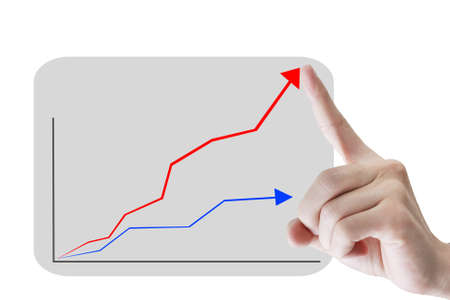 hand and business graph success  photo
