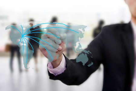net meeting: drawing social network world map