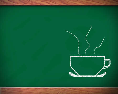 tipple: Coffee may use the blackboard in the background