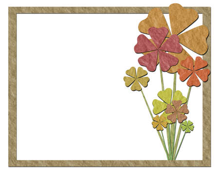 Frame with flowers made of paper  photo