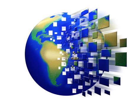 Globe disorganized background  photo