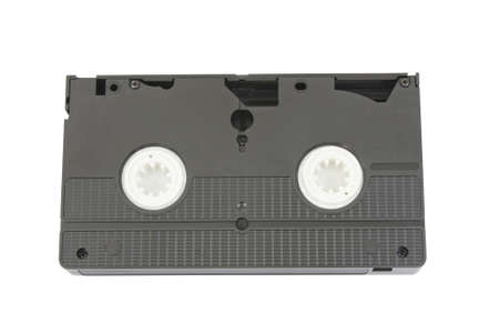ingest: old vhs video the upper part of a cassette