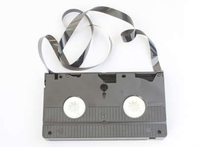 ingest: video the upper part of a cassette  Stock Photo