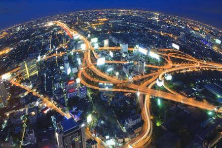 Transport chaos in bigger cities-Bangkok nightlife  photo