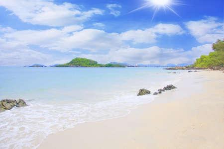 uninhabited: Beautiful uninhabited island at Sea  Stock Photo
