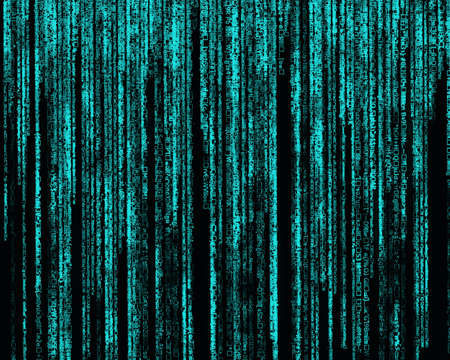algorithm: Matrix Letter code by the long blue  Stock Photo