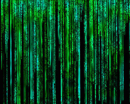 binary matrix: Matrix Letter code by the long green  Stock Photo