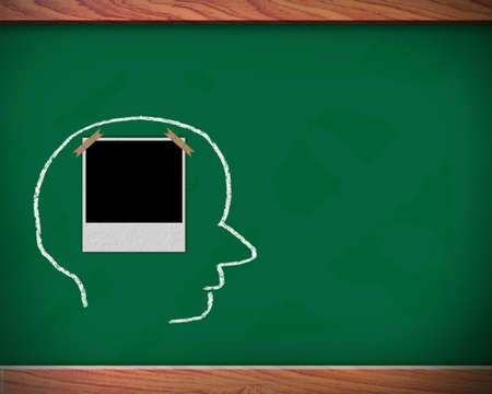 Concept of six ability in human brain on the blackboard  photo