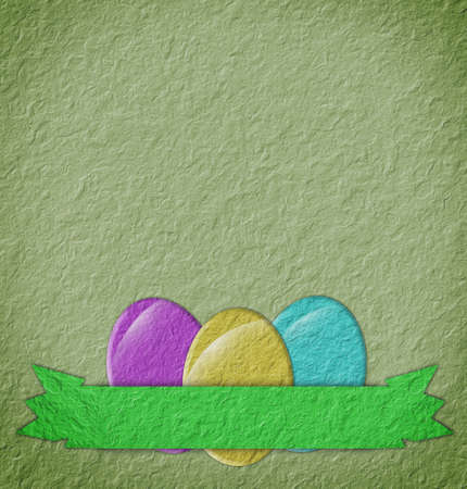 Paper easter egg card  photo