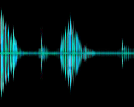 Green waveform rhythm  photo