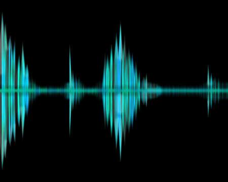 waveform: Green waveform rhythm  Stock Photo