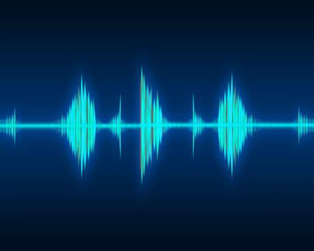 오디오: 녹색 파형의 리듬