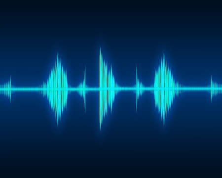 audio wave: Green waveform rhythm  Stock Photo