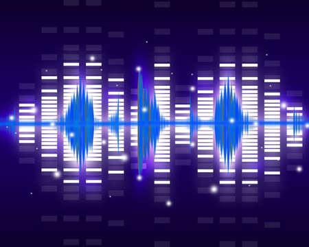Sound waves set  Music background Stock Photo - 12986112