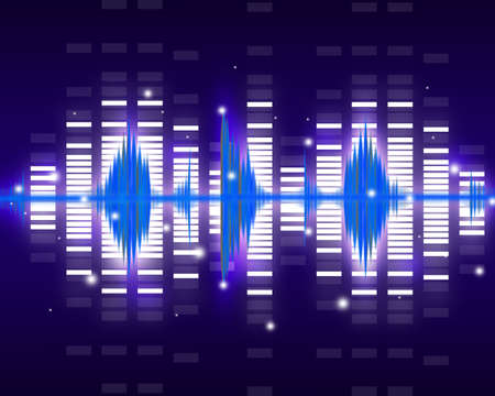 pulsing: Sound waves set  Music background
